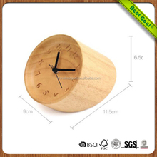 Promotion newest digital Solid wooden table clock