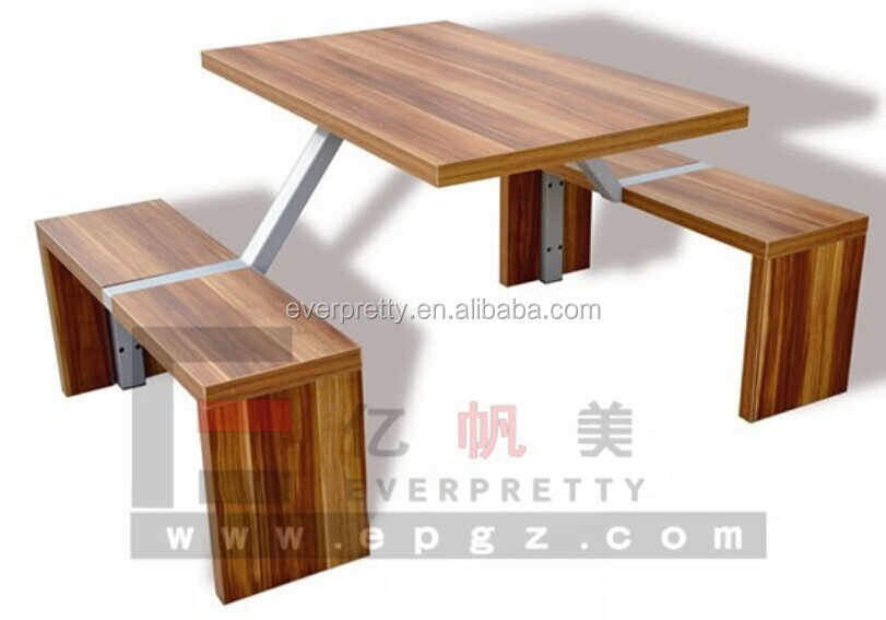 Mdf Wood Restaurant Table And Chair Restaurant Furniture
