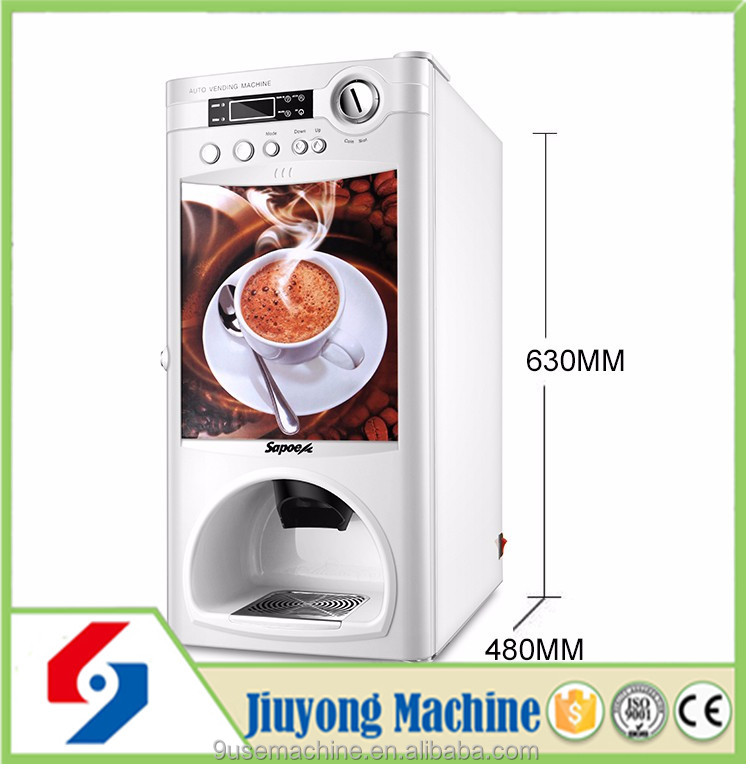 commercial use small capacity plastic coffee dispenser hot-sale coffee vending machinec classical instant coffee machine