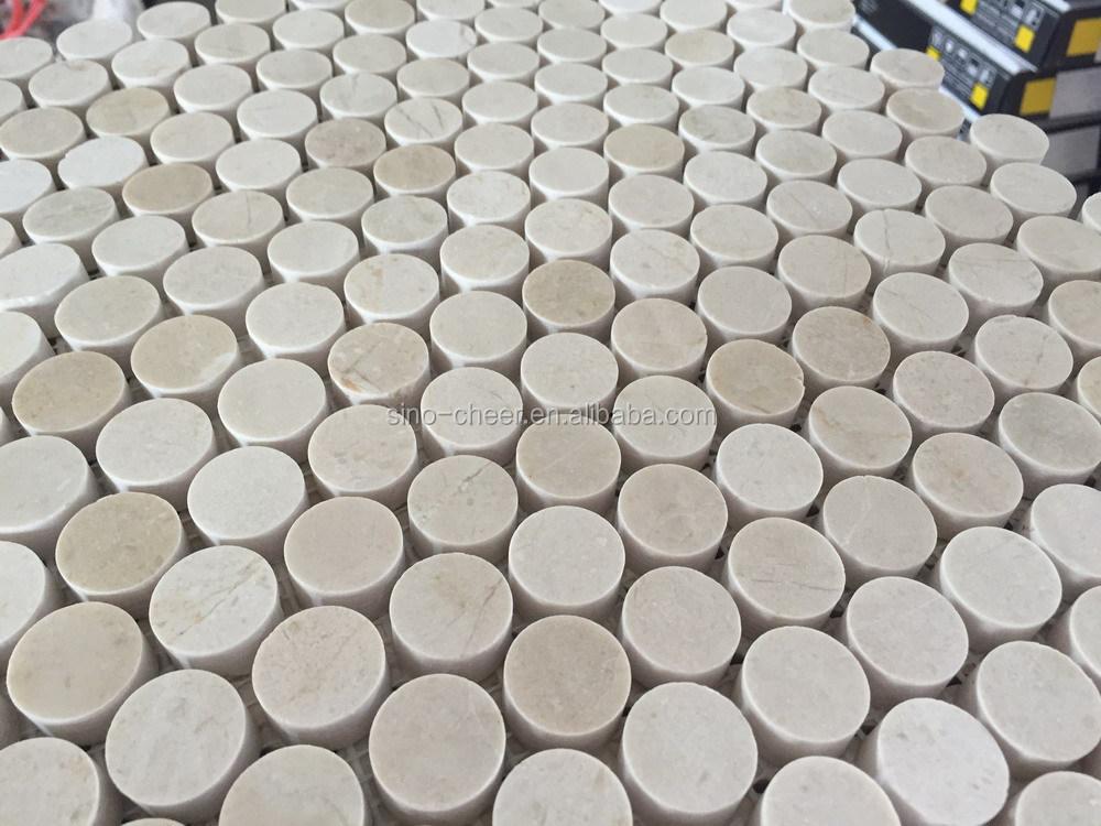 Penny Tiles Badkamer : 20mm bianco carrara wit marmeren steenmozaïek voor wand vloer