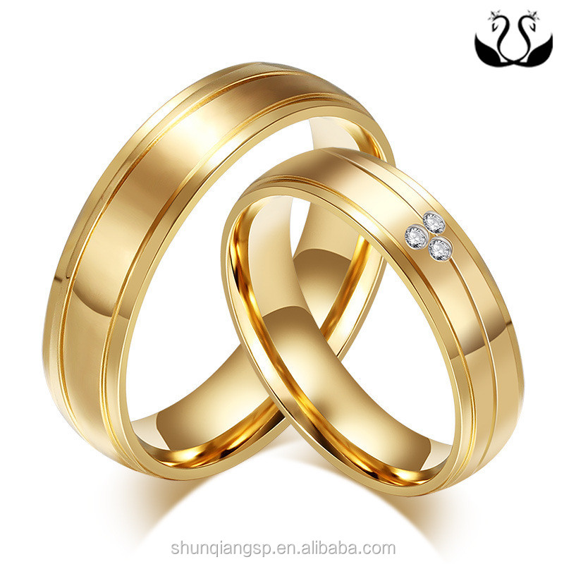 matching couple dp wedding steel golden stainless women men rings vl girlz
