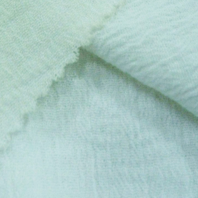 Shrink-resistant soft white plain bedding 100% cotton crepe fabric
