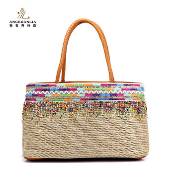 New design ladies' handbags from thailand straw handbags 2019