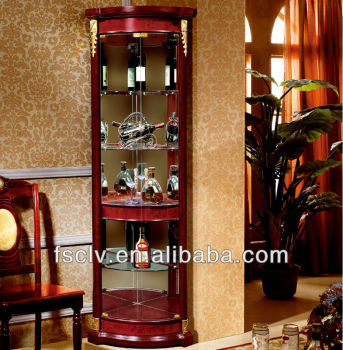 decorative vintage living room wood furniture corner bar