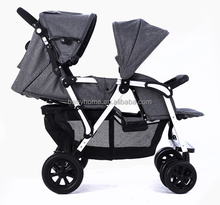 Shockproof aluminium double baby twin stroller