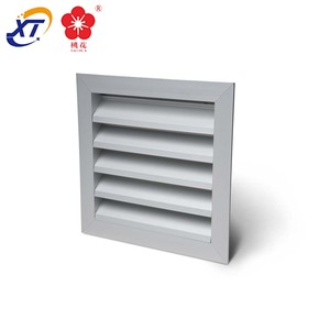 Building Internal Fixed Aluminium Louvre Air Ventilation Grille & External weather ventilation aluminum louver frame