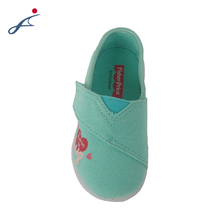 Pure color new style baby girls canvas flat shoes