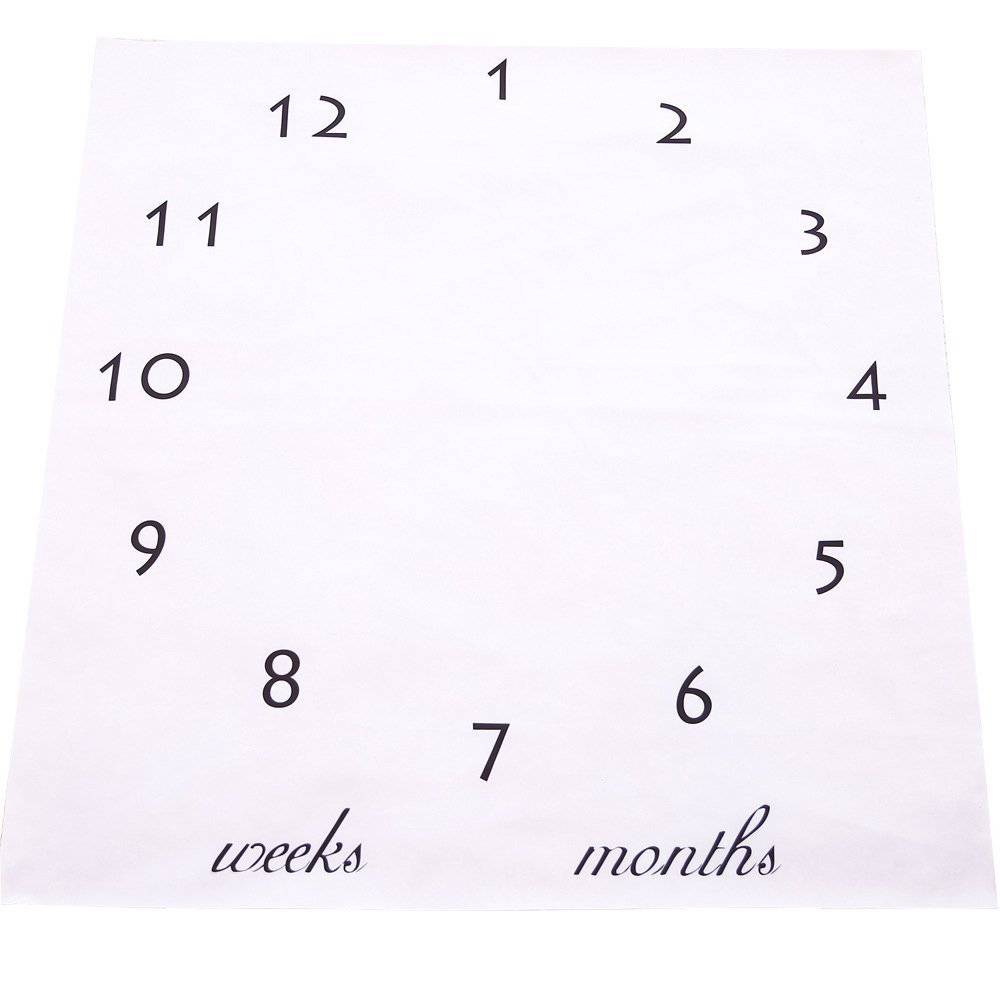 Fanme Baby Photo Cloth DIY Newborn Milestone Shoot Blanket Printed Monthly Year Photography Props Baby Shower and Birthday Gift for Unisex Toddlers Infants (2)