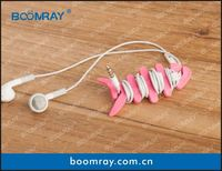 useful and cute cable headset connector silicone case for cell phone accessory