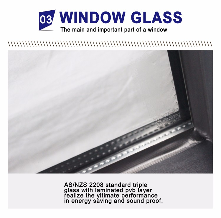 Energy saving double glass window aluminium awning windows and doors