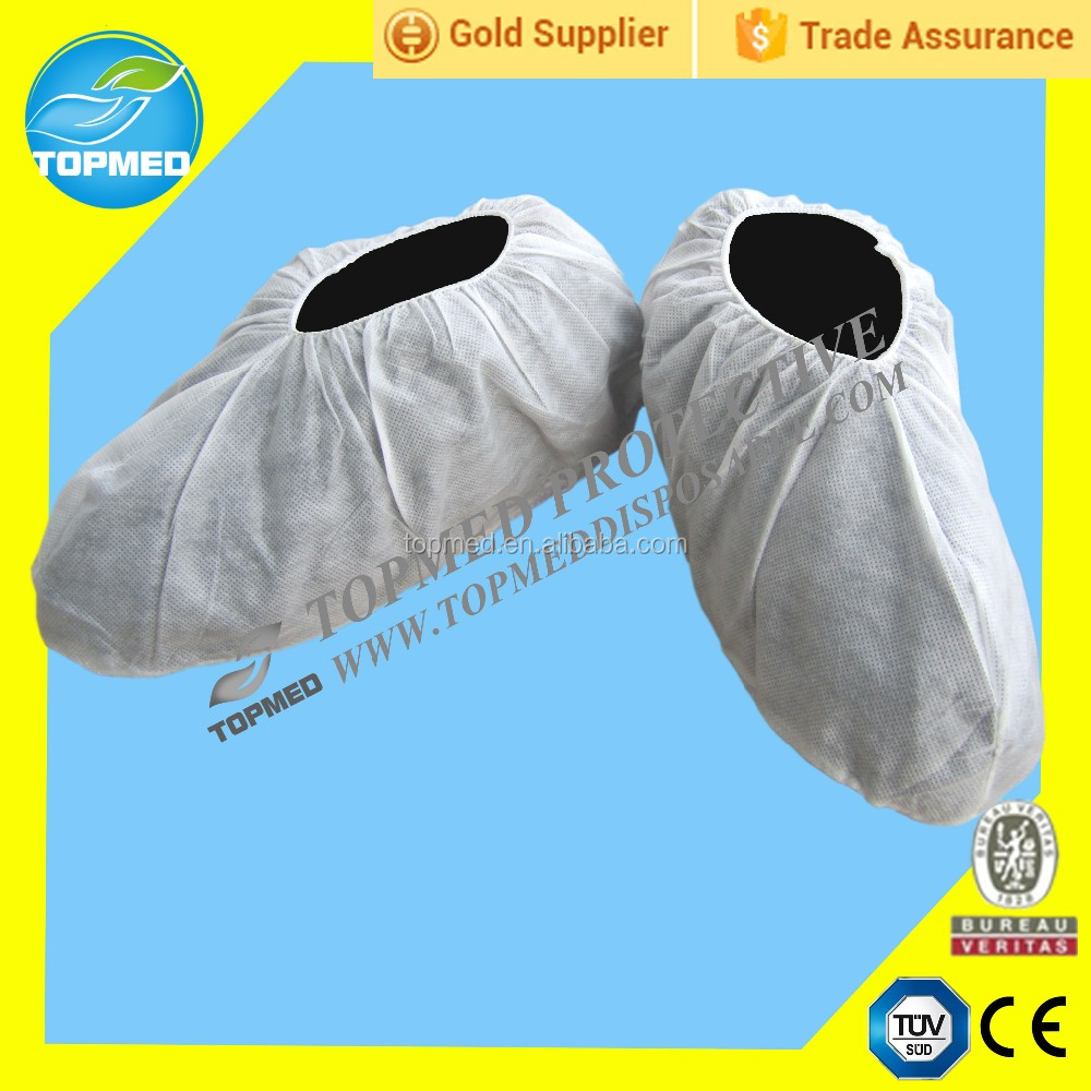 disposable custom nonwoven shoe cover, hospital shoe cover by machine