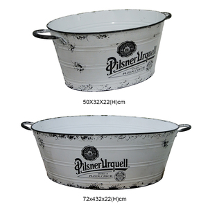 China supplier metal galvanized steel beer ice bucket bar accessories champagne ice bucket