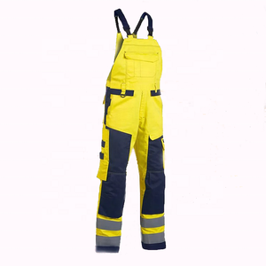 100% Polyester Uniform Work High Visibility Orange Cverall Mesh Men Cheap Reflective Tape Work Pants