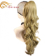 Wholesale ombre brazilian hair weave pink 100% human hair ponytail