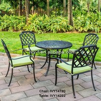 metal dining set sets of table and chairs for porch/hotel lobby round table/lobby furniture