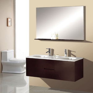 Double Sink Wooden Bathroom Cabinets Guangdong
