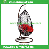 rattan hanging chair with stand outdoor patio furniture