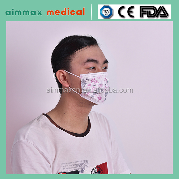 non woven earloop disposable medical face masks various colors/Non Woven Medical Disposables Face Mask