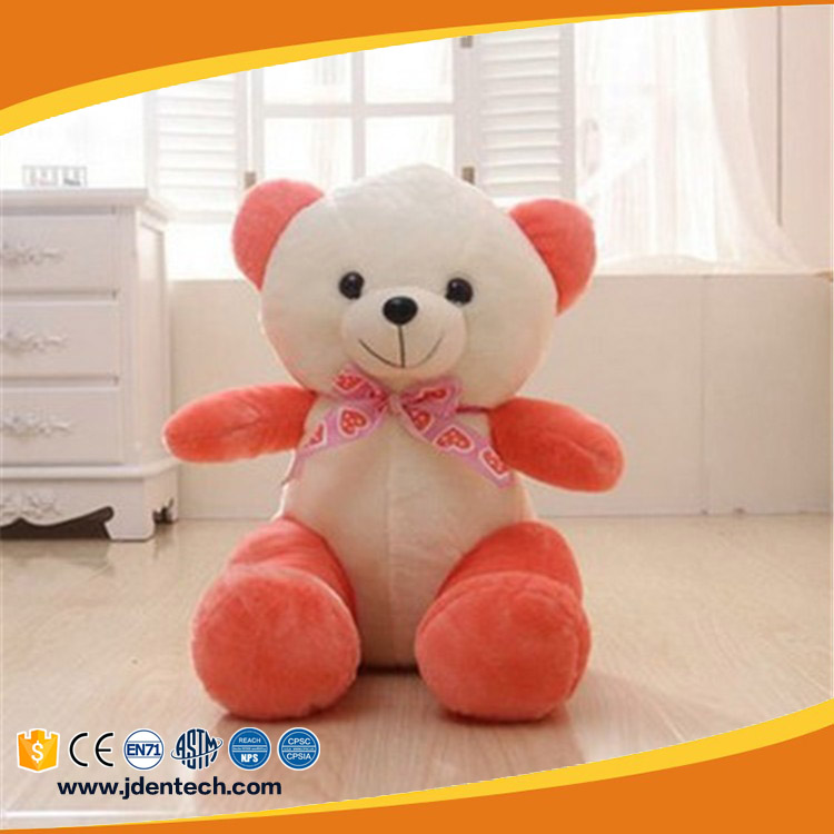 Custom baby bear big smile nice various colors super soft plush toy