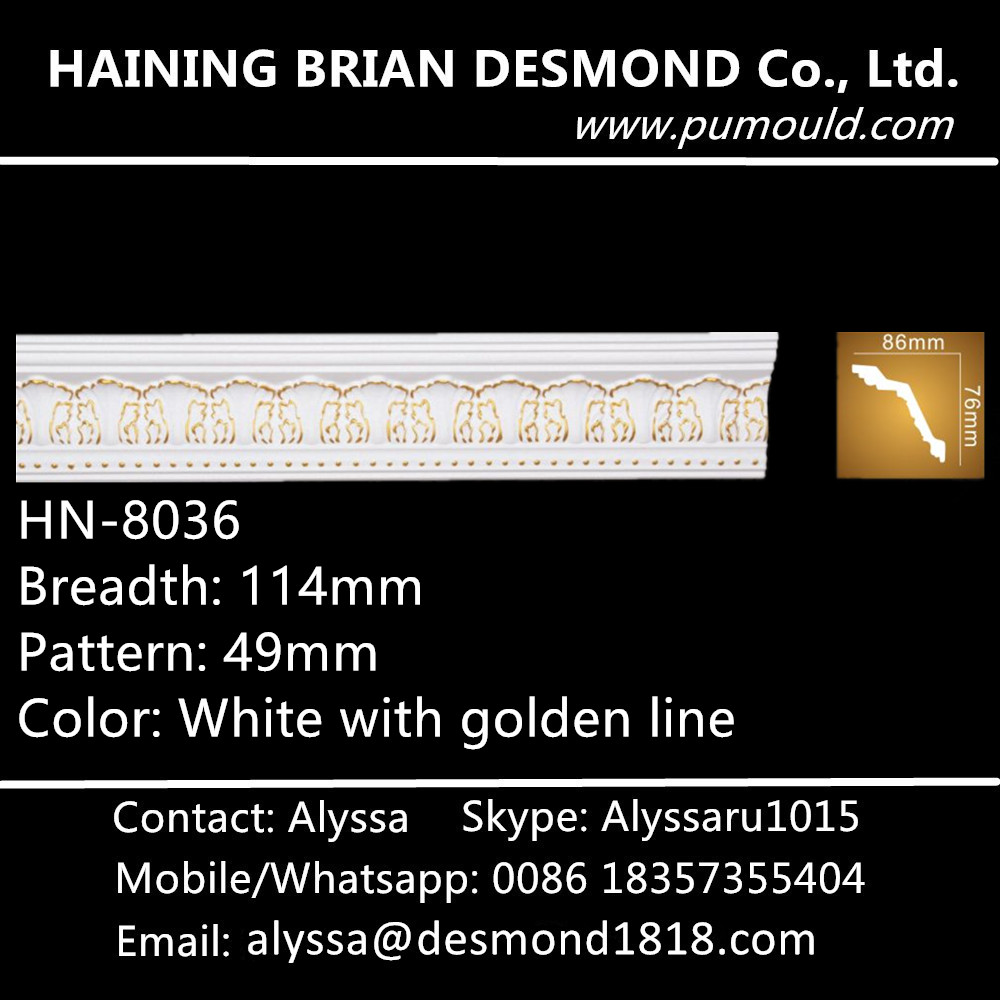 Factory Price PU Foam Polyurethane Ceiling Molding Decorative Crown <strong>Moulding</strong>