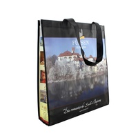 New promotional cheap reusable shopping bag eco friendly laminated large custom logo non woven bag