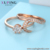 R006 Xuping new arrival women jewelry special shaped double layer finger ring with gemstone, diamond ring