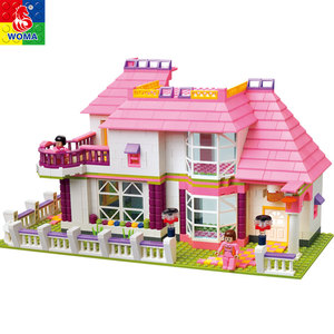 Professional Manufacturer education building blocks colorful castle toy