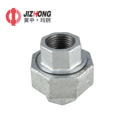 Malleable Iron Pipe Fitting, Class 150, Union, NPT Female, Black Finish