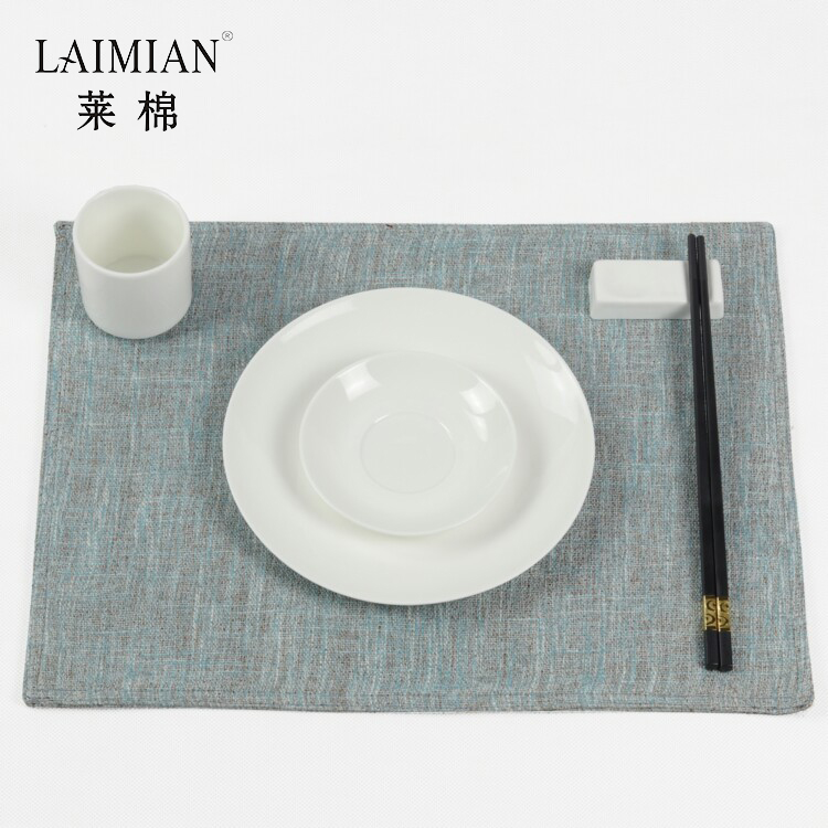 Custom made fashion multi color cotton table linen placemats for home or restaurants