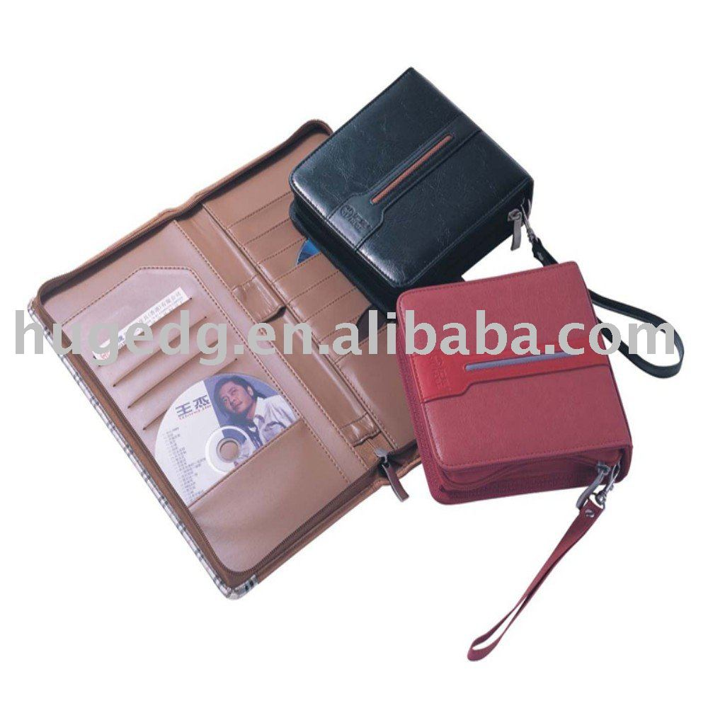 Fashion faux leather CD/DVD bag