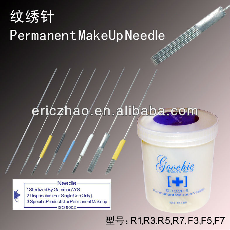 Disposable Stainless Steel Tattoo Needle for Permanent Makeup