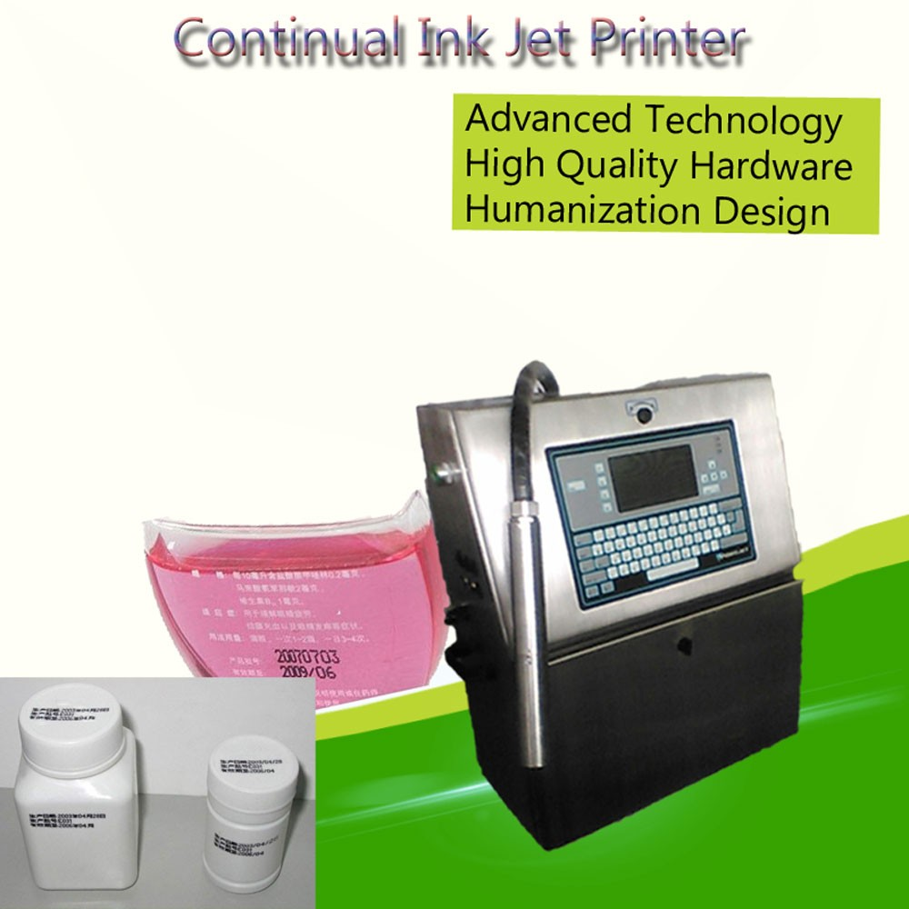 Industrial Color Inline CIJ Ink Jet Printer, Small Character Coder Dater Cij Printer, Continuous Inkjet CIJ Marking Machine
