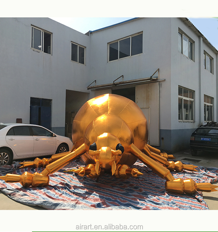 Custom golden giant inflatable insects beetle, outdoor decoration inflatable beetle, inflatable animals