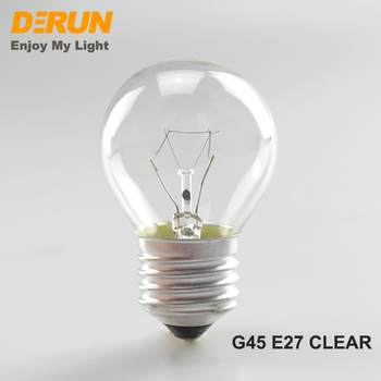 G45 Clear Round 25W 40W 60W Incandescent Bulb Light With CE ROHS 120V 220V 230V 240V