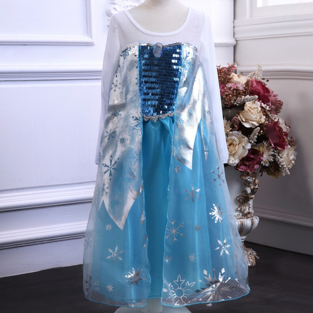 Party Frozen Princess Elsa Dress/costume Wholesale - Buy Frozen Elsa ...