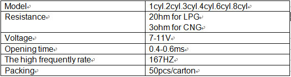 VALTEK 4 cyl CNG Injector Rail