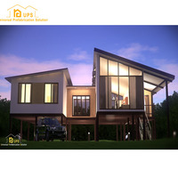 Patent new technology cement prefabricated house plans with decoration