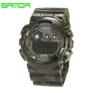 2018 new g style sports watches military Camouflage digital led clock shock 30m waterproof diver sanda 289 watch relojes men hot