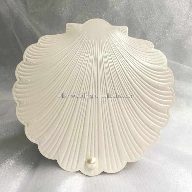 Dlwibk03 Wedding Card Beautiful Sea Shell Shape Beach Invitation