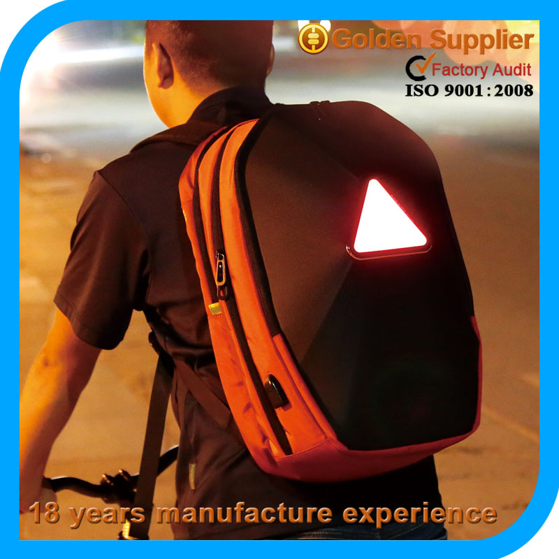 2016 fashion most attractive traveling bag sport bag hiking led bike backpack travel bag