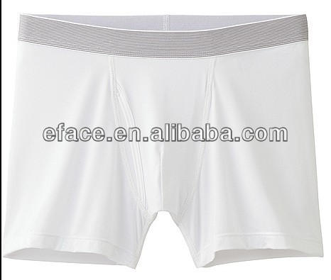 plain white men boxer short with quick dry function