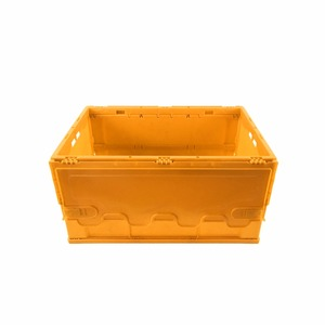 22liters Eco Moving Attach Lids Solid Folding Plastic Crate