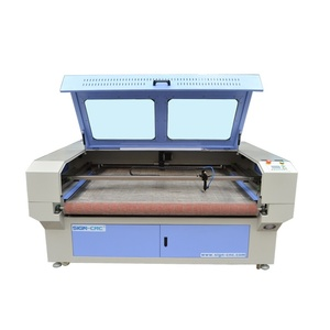 Auto feeding CO2 laser fabric cutting machine for sofa cover/ textile 1610/1810