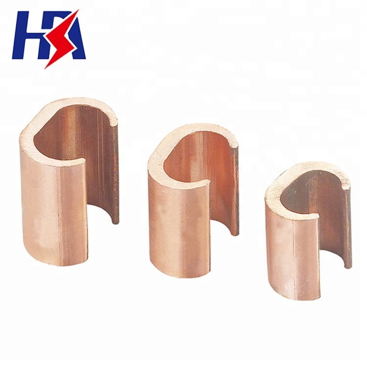 99.9% T2 Red Copper Content C Clamp CCT-190 Pipe Clamp Fitting Electrical Cable Clamp