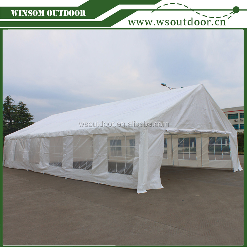 20'x40' heavy duty white PE party tents, wedding event tents with full set of sidewalls