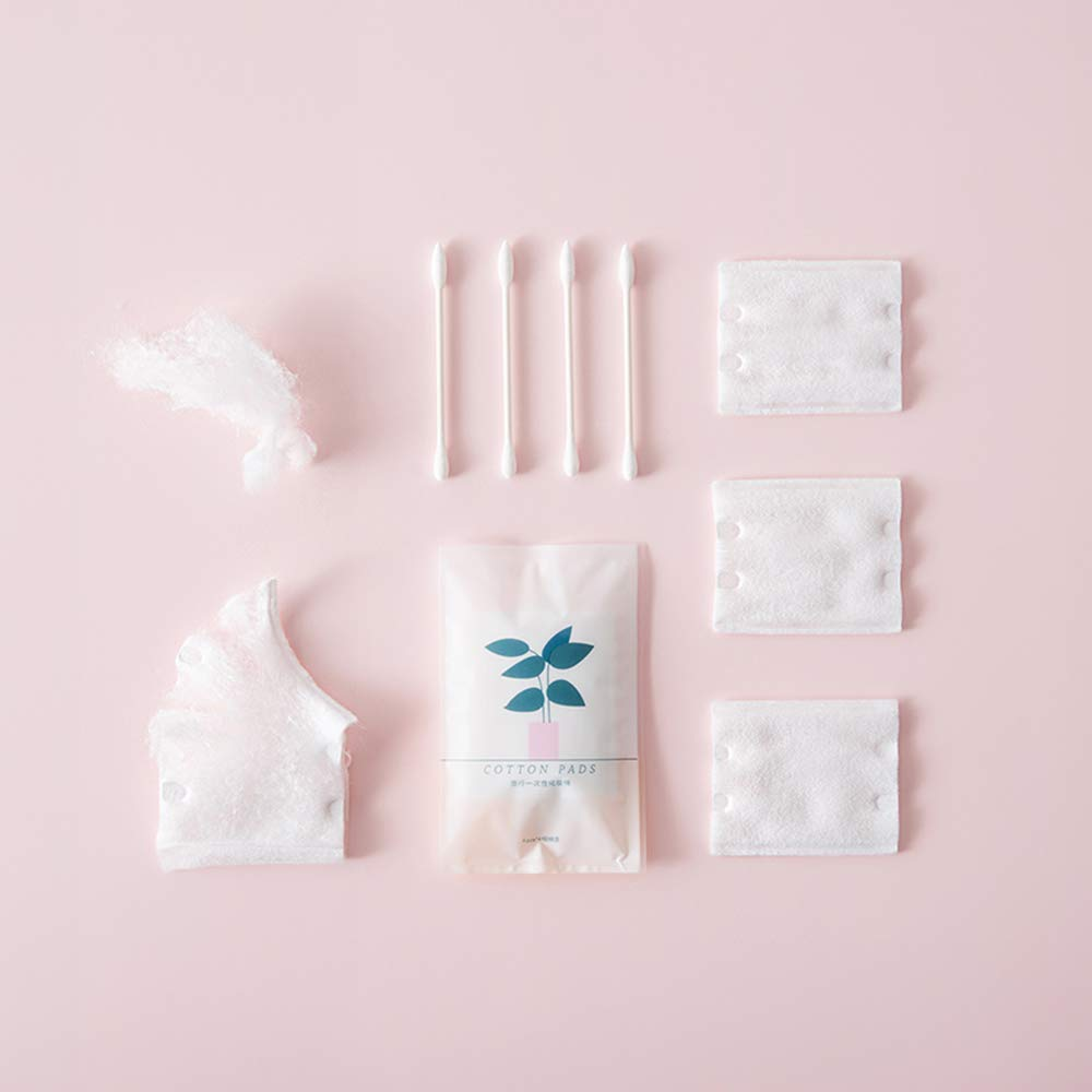 Cotton Pads Swab Makeup Remover Wipes Facial Cleaning Tissue Set 10 Packs