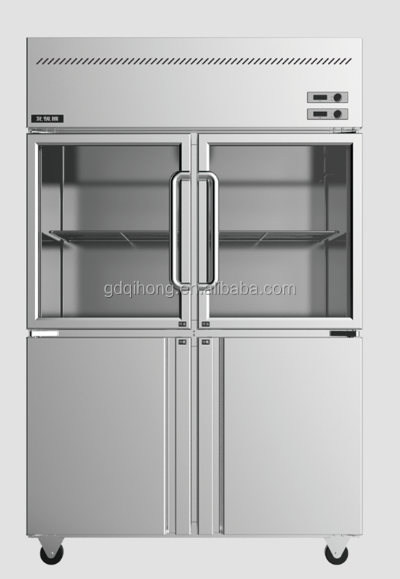 Restaurant Kitchen Refrigerator lcf-4m2d glass commercial restaurant kitchen refrigerators 4 glass