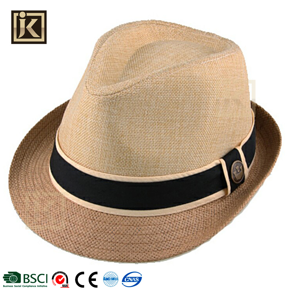 JAKIJAYI custom sombrero panama surf cheap paper men fedora straw trilby hat