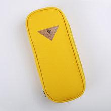 1 шт., корейский стиль, конфетный цвет, лаконичный холщовый чехол-карандаш, органайзер для хранения, сумка, школьные принадлежности, канцеляр...(Китай)