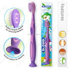New children and kids toothbrush with soft bristles & interesting suction button
